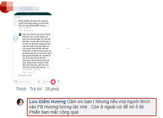Bị chỉ trích sau phát ngôn đụng chạm tới Nam Em, Hoa hậu Diễm Hương đáp trả