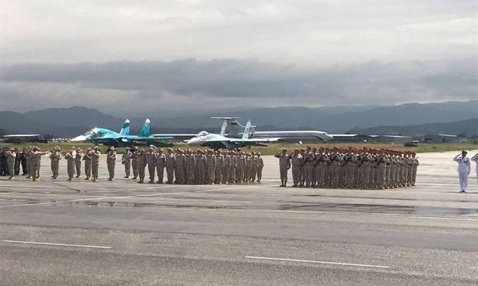 Lễ Duyệt binh Chiến thắng Nga tại căn cứ ở Syria