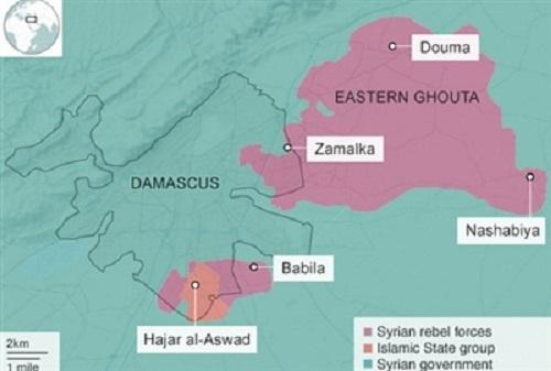 Quân đội Syria quét sạch phiến quân quanh thủ đô Damascus