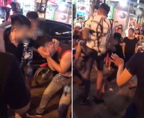 Nam thanh niên bị túm tóc, đánh ghen túi bụi giữa phố vì dám thả thính phụ nữ đã có chồng