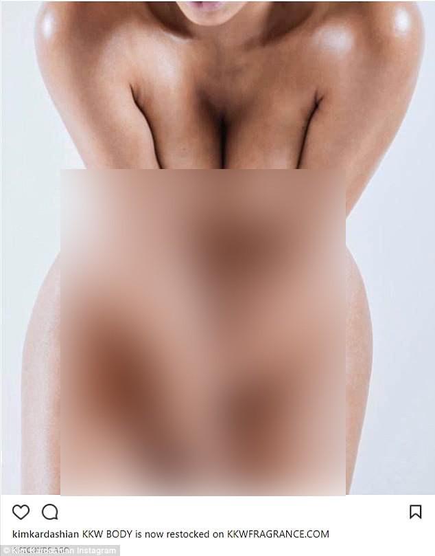 Kim Kardashian gây sốc với ảnh cận cảnh body khỏa thân hoàn toàn
