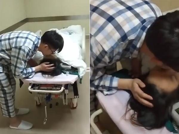 Clip chồng bơ con chạy đến hôn vợ mới sinh khiến mẹ bỉm sữa ngậm ngùi Đẻ vậy mới đáng!