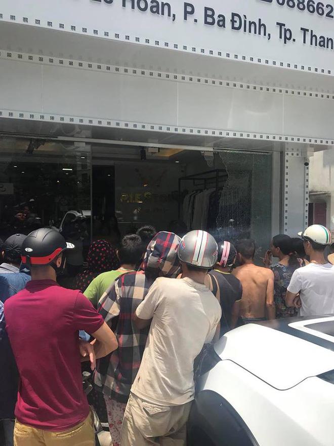 Thanh Hóa: Một phụ nữ bị thương sau tiếng nổ lớn ở shop quần áo chuẩn bị khai trương