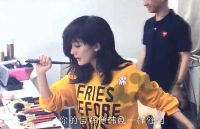 Dở khóc dở cười khi Dương Mịch bị tuột tóc giả, lộ trán hói tại hậu trường
