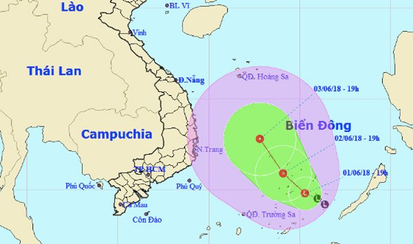 Dự báo thời tiết 2/6: Biển Đông nguy cơ hứng áp thấp nhiệt đới