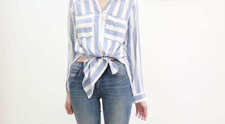 5 kiểu thắt nút áo giúp bạn thêm muối cho chiếc áo phông, áo sơ mi