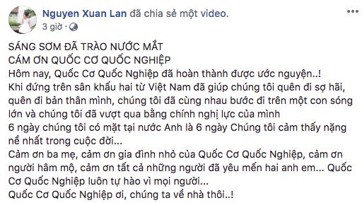 Hàng loạt sao Việt tự hào và xúc động trước màn diễn sinh tử của Quốc Cơ - Quốc Nghiệp tại chung kết Got Talent