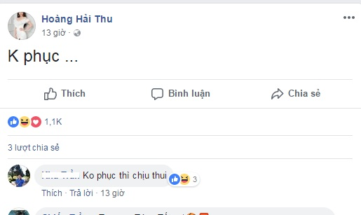 Hoàng Hải Thu tỏ thái độ Không phục khi bị loại khỏi The Face Vietnam 2018