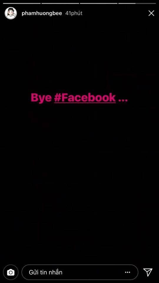 Phạm Hương tuyên bố sẽ không còn sử dụng facebook