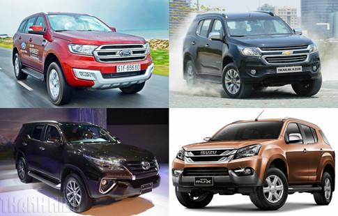 5 mẫu SUV 7 chỗ hưởng thuế nhập khẩu 0% sẵn sàng 'đại chiến'