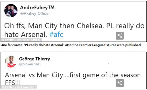 Fan Arsenal kêu trời về lịch Ngoại hạng Anh mùa mới