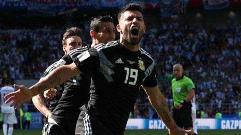 Aguero giải tỏa cơn khát suốt 8 năm ở World Cup