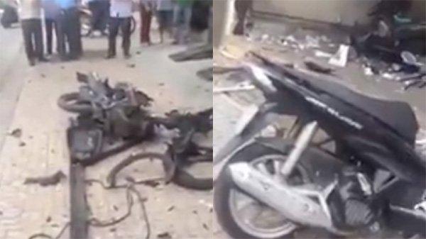 Nhân dạng 2 kẻ nghi ném chất nổ vào trụ sở CA phường ở Sài Gòn