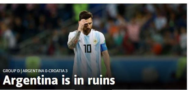 Truyền thông thế giới sốc: Messi và Argentina bên bờ vực thẳm