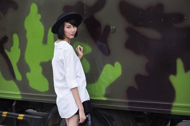 Cách chọn quần áo che thân hình cò hương của người mẫu gầy nhất Việt Nam