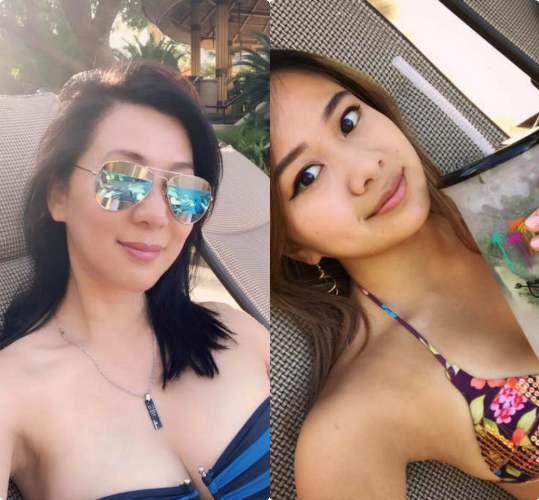 Tuổi U60, MC Kỳ Duyên mặc bikini đọ ngực khủng với con gái tuổi 18