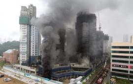 Cháy công trường ở Hàn Quốc, 4 công nhân mất tích