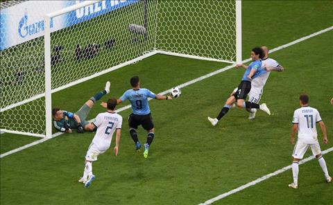 Những thống kê ấn tượng sau trận đấu Uruguay 3-0 Nga
