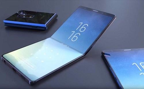 Smartphone màn hình gập đôi sắp được Samsung sản xuất