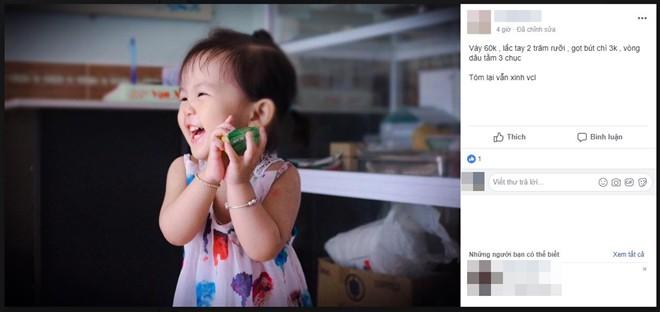 Theo trào lưu bóc giá set đồ của giới trẻ Việt, mẹ bỉm sữa báo giá từ mỡ bụng đến khăn tắm của con