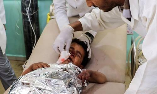 Xe buýt chở học sinh Yemen bị không kích, 43 người thiệt mạng