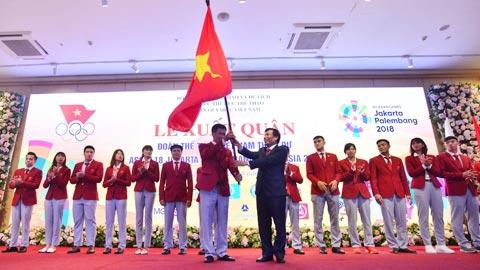 Lễ xuất quân Đoàn Thể thao Việt Nam dự ASIAD 18: Quyết tâm chinh phục đỉnh cao