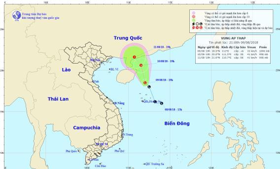 Dự báo thời tiết 10/8: Cảnh báo vùng nguy hiểm trên Biển Đông