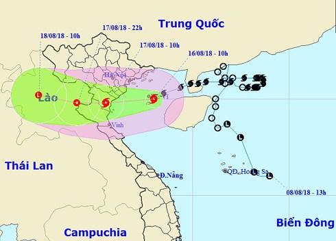 Bão số 4 mạnh thêm, cách Móng Cái và Nam Định 180km