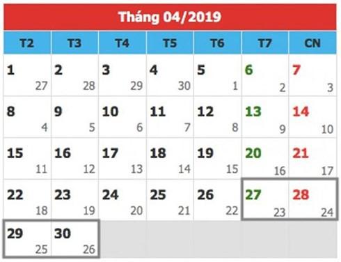 Chi tiết lịch nghỉ lễ các ngày trong năm 2019: Nghỉ Tết Nguyên đán 9 ngày