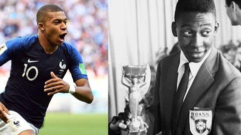 Vua Pele cũng ghen với tài năng của Mbappe
