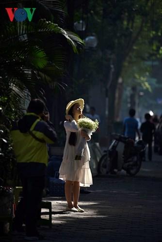 Những hình ảnh bình dị, thân thương trên phố phường Hà Nội
