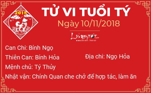 Tử vi Thứ 7 ngày 10/11/2018 của 12 con giáp: Ngọ thất lạc tiền ...