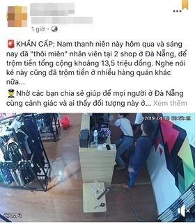 Phẫn nộ clip thanh niên nói tiếng Trung Quốc liên tiếp ăn trộm tiền tại các cửa hàng ở Đà Nẵng