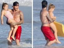 Hình ảnh Harper béo ú bị dân mạng chê xấu, vợ chồng Beckham 'nổi trận lôi đình'