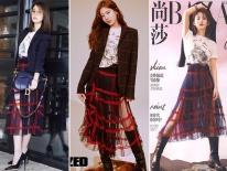Diện nguyên set đồ cho người mẫu: Suzy, Lâm Tâm Như đẹp lung linh, Triệu Lệ Dĩnh lại khó phân định