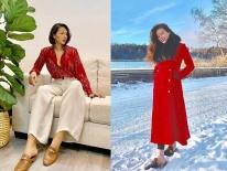Street style sao Việt cuối năm: Hà Hồ không đi tất dù trời lạnh, Kỳ Duyên và Minh Triệu cùng diện đồ màu 'nóng'