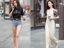 Clip: Phố Trung Quốc ngập tràn những cô gái đẹp ăn vận mát mẻ hút mắt