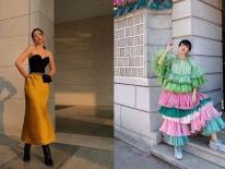 Hai cái nhất của street style tuần qua: Chi Pu khoe đường cong nữ thần, Khánh Linh lại giống 'bắp cải ngũ sắc'