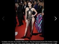 Người Pháp nhận xét về Ngọc Trinh: 'Nên cấm những cô gái này trên thảm đỏ LHP Cannes'