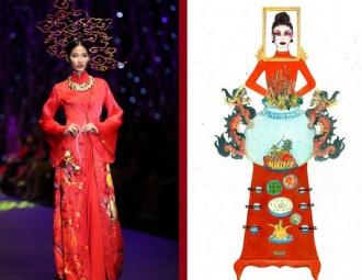 Thiết kế 'Bàn thờ' thi phần trang phục để Hoàng Thuỳ dự Miss Universe 2019 đang khiến dân tình cạn hết lời!