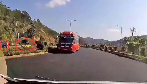 Xe khách chạy ngược chiều trên cao tốc Liên Khương - Đà Lạt - 1