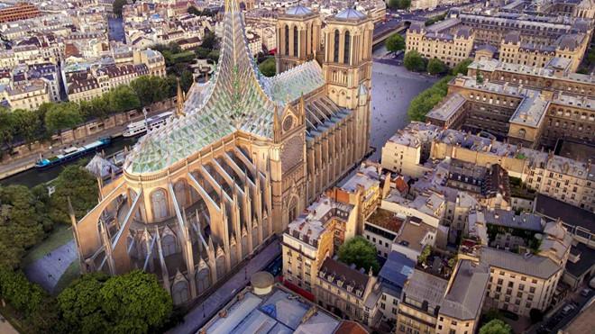Kiến trúc sư đề xuất lắp mái thủy tinh cho Nhà thờ Đức Bà