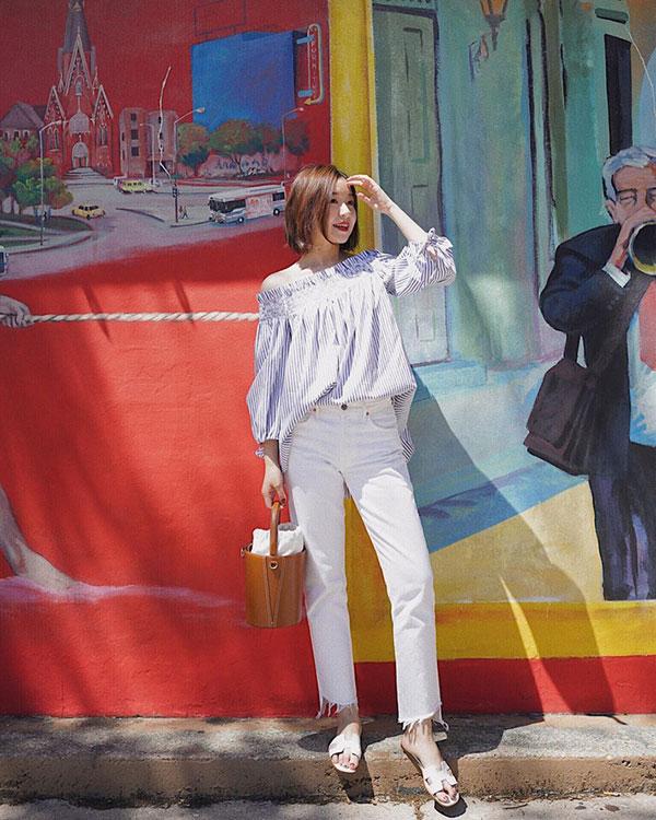 Jeans trắng phẳng phiu và 12 gợi ý mix&match dành cho chị em muốn thay mới hoàn toàn style công sở - 5