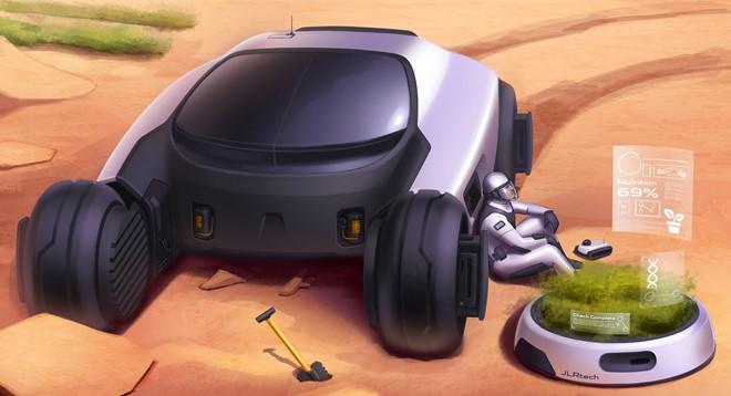 Nếu Land Rover làm xe chạy trên Sao Hỏa, thì nó sẽ trông như thế này