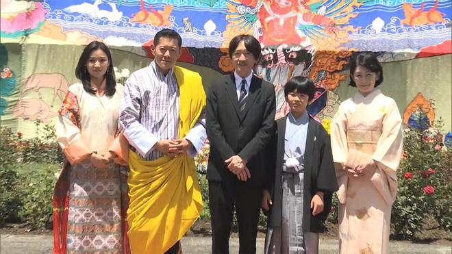 Hoàng hậu Bhutan đọ sắc Thái tử phi Nhật Bản nhưng 2 Hoàng tử nhỏ mới là tâm điểm chú ý - 1