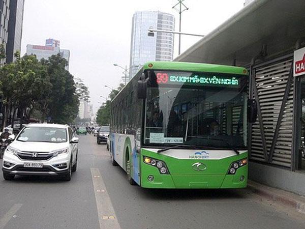 TP Hà Nội dự kiến mở thêm làn đường ưu tiên cho xe buýt