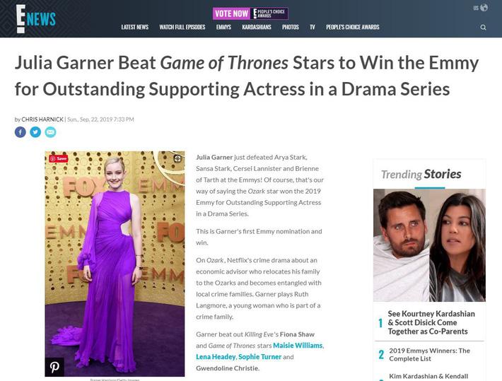 Gợi cảm, nóng bỏng trong bộ đầm của NTK Công Trí, nữ diễn viên Julia Garner nhận giải thưởng Emmy đầu tiên trong sự nghiệp - 4