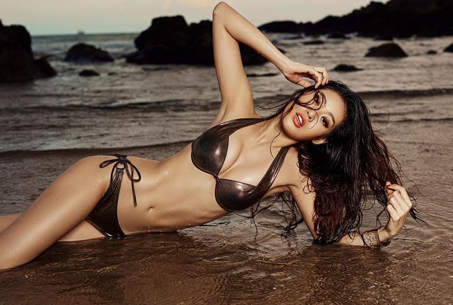 Ngắm loạt ảnh Tân Hoa hậu Hoàn vũ Việt Nam khoe dáng nóng bỏng cùng bikini - 1