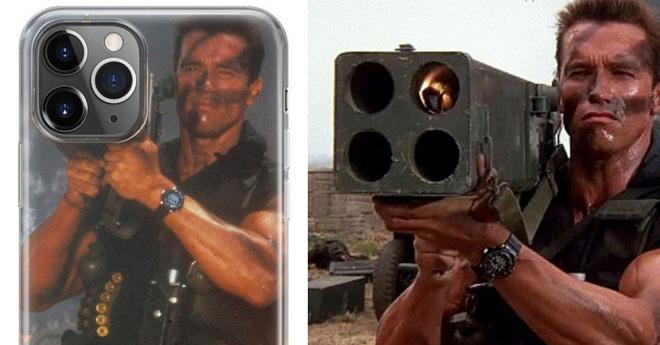 'Kẻ hủy diệt' Arnold Schwarzenegger lấy ảnh bị chế làm ốp lưng cho iPhone 11