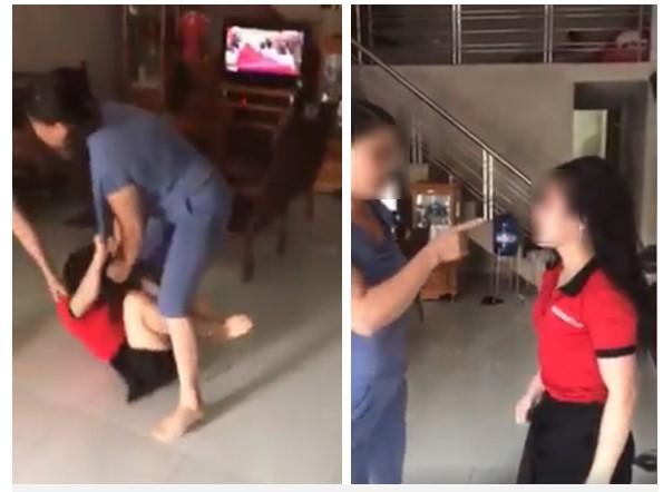Xôn xao clip mẹ chồng - nàng dâu giằng co, túm tóc, đánh nhau ngay giữa nhà - 1